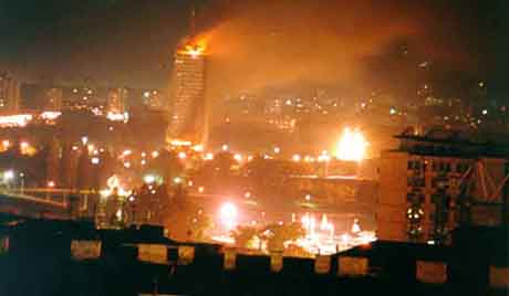 3CK building on fire 1999
